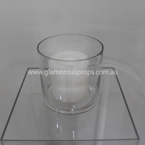 Small vase and candles