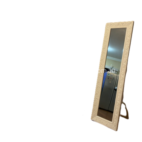White Abby mirror